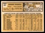 1963 Topps #497  Bennie Daniels  Back Thumbnail