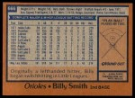1978 Topps #666  Billy Smith  Back Thumbnail