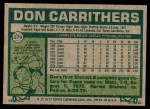 1977 Topps #579  Don Carrithers  Back Thumbnail