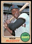1968 Topps #290  Willie McCovey  Front Thumbnail