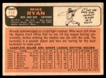 1966 Topps #419  Mike Ryan  Back Thumbnail