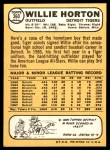 1968 Topps #360  Willie Horton  Back Thumbnail