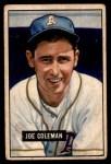 1951 Bowman #120  Joe Coleman  Front Thumbnail
