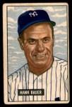 1951 Bowman #183  Hank Bauer  Front Thumbnail