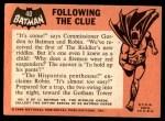 1966 Topps Batman Black Bat #40 BLK  Following the Clue Back Thumbnail