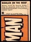 1966 Topps Batman Blue Bat Puzzle Back #37 PUZ  Riddler on the Roof Back Thumbnail