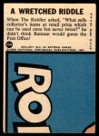 1966 Topps Batman Blue Bat Puzzle Back #29 PUZ  Wretched Riddle Back Thumbnail
