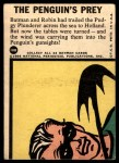1966 Topps Batman Blue Bat Puzzle Back #18 PUZ  The Penguin's Prey Back Thumbnail