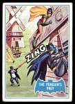 1966 Topps Batman Blue Bat Puzzle Back #18 PUZ  The Penguin's Prey Front Thumbnail