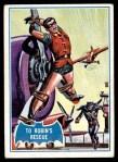 1966 Topps Batman Blue Bat Puzzle Back #11 PUZ  To Robin's Rescue Front Thumbnail