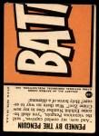 1966 Topps Batman Blue Bat Puzzle Back #16 PUZ  Penned by the Penguin Back Thumbnail