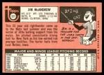 1969 Topps #321  Jim McAndrew  Back Thumbnail