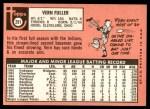 1969 Topps #291  Vern Fuller  Back Thumbnail
