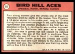 1969 Topps #532   -  Mike Cuellar / Jim Hardin / Dave McNally / Tom Phoebus Bird Hill Aces Back Thumbnail