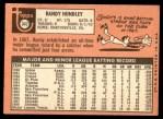 1969 Topps #347  Randy Hundley  Back Thumbnail
