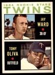 1964 Topps #116   -  Tony Oliva / Jay Ward Twins Rookies Front Thumbnail
