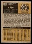 1971 Topps #145  Joe Kapp  Back Thumbnail