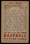 1951 Bowman #261  Wally Moses  Back Thumbnail