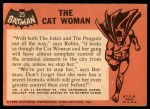 1966 Topps Batman Black Bat #25 BLK  The Cat Woman Back Thumbnail