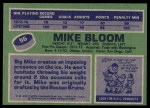 1976 Topps #56  Mike Bloom  Back Thumbnail