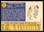 1970 Topps #514  Steve Hovley  Back Thumbnail