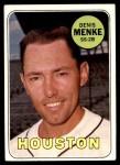 1969 Topps #487  Denis Menke  Front Thumbnail
