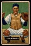 1951 Bowman #142  Aaron Robinson  Front Thumbnail