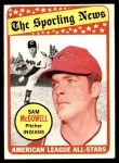 1969 Topps #435   -  Sam McDowell All-Star Front Thumbnail