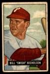 1951 Bowman #113  Swish Nicholson  Front Thumbnail