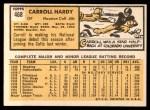 1963 Topps #468  Carroll Hardy  Back Thumbnail