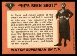1966 Topps Superman #15   He's Been Shot Back Thumbnail