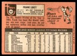 1969 Topps #345  Frank Linzy  Back Thumbnail