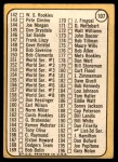 1968 Topps #107 xTCH  -  Juan Marichal Checklist 2 Back Thumbnail