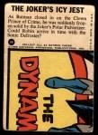 1966 Topps Batman Blue Bat Puzzle Back #1 PUZ  The Joker's Icy Jest Back Thumbnail