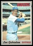 1970 Topps #204  Len Gabrielson  Front Thumbnail