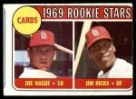 1969 Topps #559   -  Joe Hague / Jim Hicks Cardinals Rookies Front Thumbnail