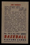 1951 Bowman #79  Jim Hegan  Back Thumbnail