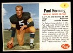 1962 Post #6  Paul Hornung  Front Thumbnail