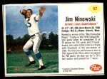 1962 Post #57  Jim Ninowski  Front Thumbnail