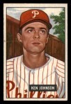 1951 Bowman #293  Ken Johnson  Front Thumbnail