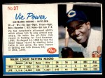 1962 Post Cereal #37  Vic Power   Front Thumbnail
