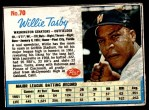 1962 Post Cereal #70  Willie Tasby   Front Thumbnail
