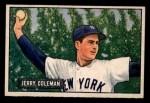 1951 Bowman #49  Jerry Coleman  Front Thumbnail