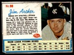 1962 Post Cereal #98  Jim Archer   Front Thumbnail