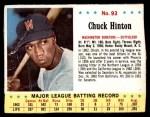 1963 Jello #93  Chuck Hinton  Front Thumbnail