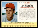 1963 Post #183  Art Mahaffey  Front Thumbnail