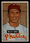 1951 Bowman #112  Willie Jones  Front Thumbnail