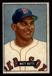1951 Bowman #129  Matt Batts  Front Thumbnail