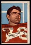 1952 Bowman Large #49  Jerrell Price  Front Thumbnail