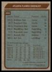1979 Topps #244   Flames Team Checklist Back Thumbnail
